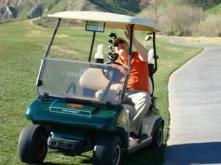 After the tenth hole, I decided to stop golfing and stick to driving the cart.